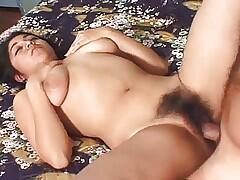 Mature Brunette With Big Puffy and Nipples Hairy Pussy